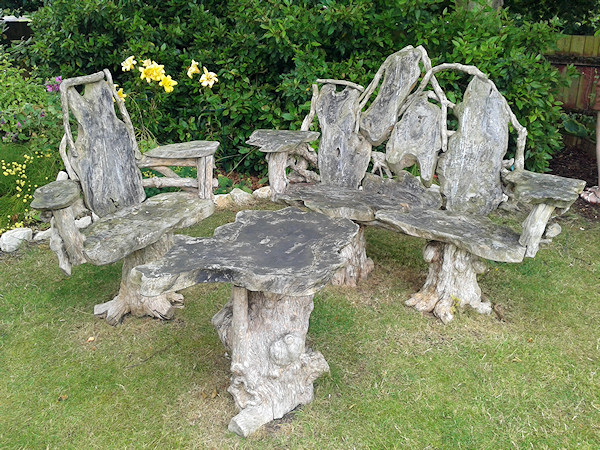 Rustic wooden table and Chairs